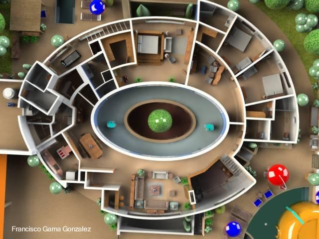 Arquitectura de casas casa tipo chalet de forma el ptica for Formas de techos para casas