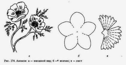 выкройки цветов из фоамирана