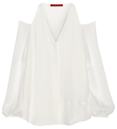 tamara mellon cutout silk blouse