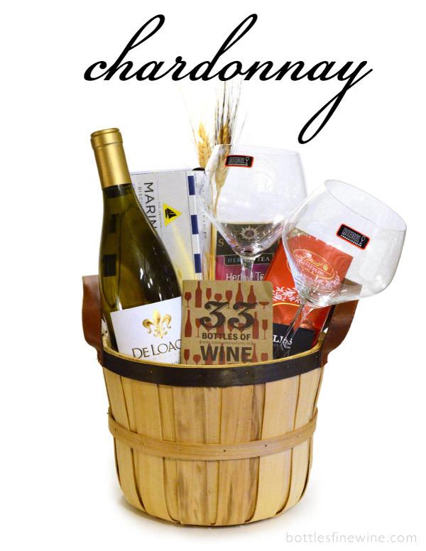 Chardonnay Wine Gift Basket Rhode Island