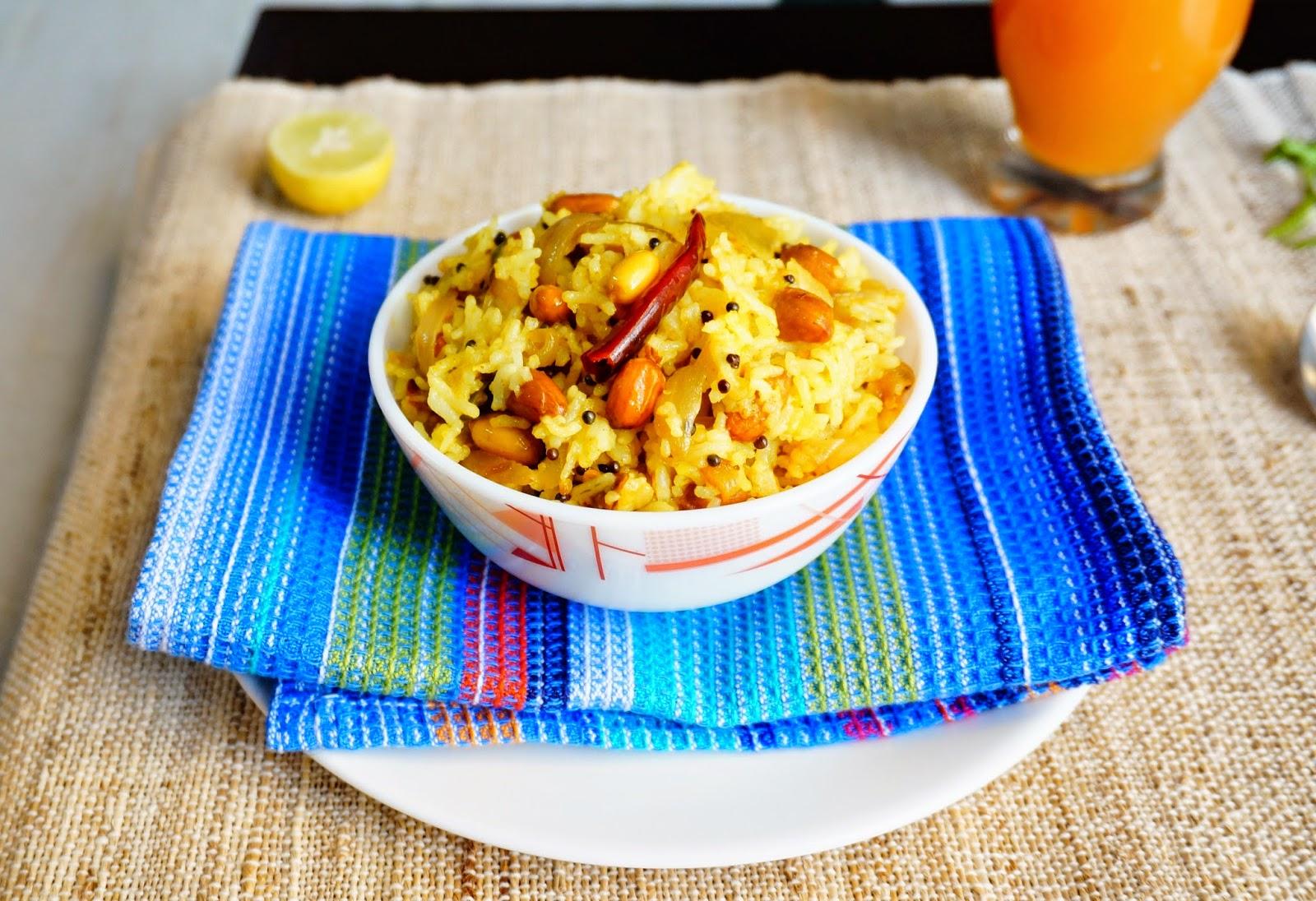 Lemon rice,rice,indian,vegetarian,pulav,biryani