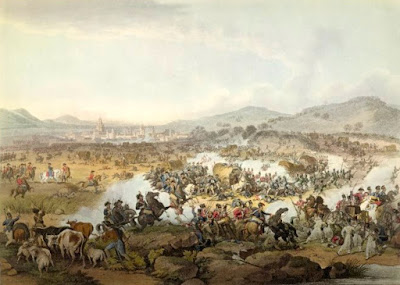 The Battle of Vittoria - print by H Moses and FC Lewis after JM Wright  published by John Hassell (1814) © The Trustees of the British Museum
