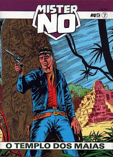Capa da história em quadrinhos Mister No - O templo dos Maias