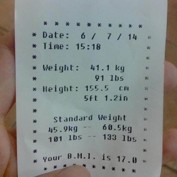 still underweight.
