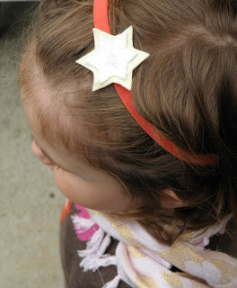 Sewing tutorial for a felt star headband.