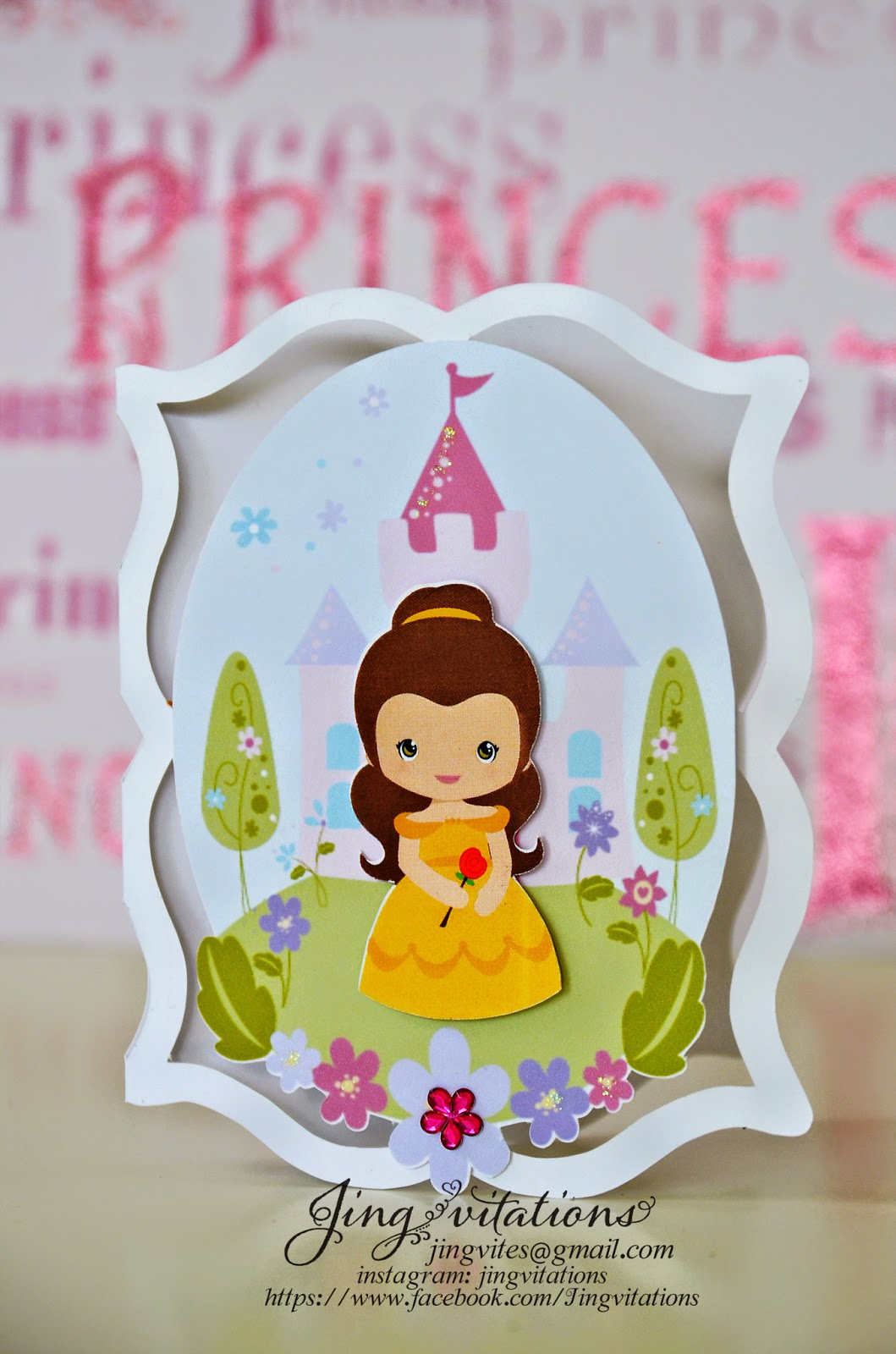 belle and the beast invitations