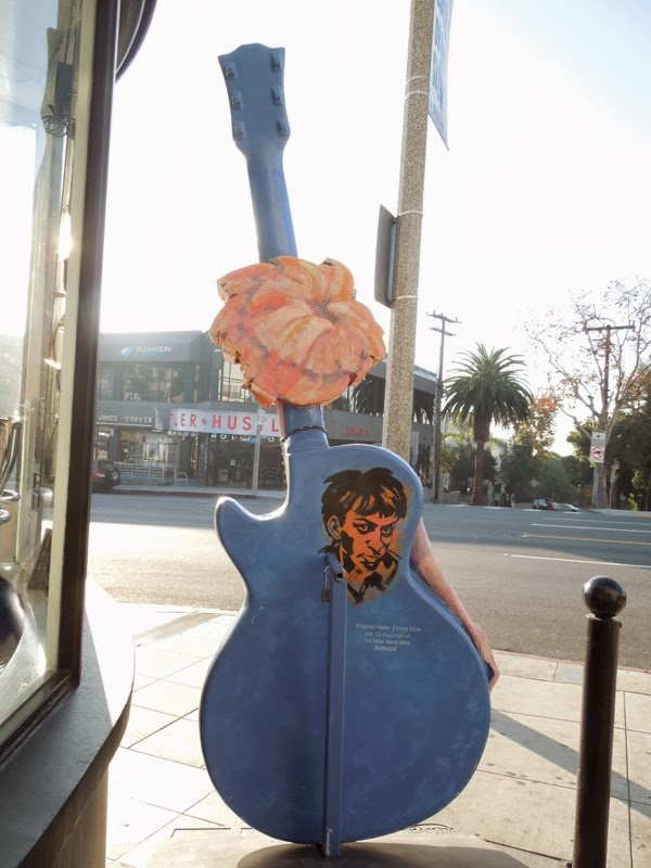 Blondie Guitar tribute sculpture back