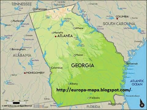 Georgia Mapa Ciudades - Mapa de georgia
