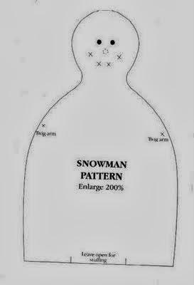 Moldes boneco de neve de tecido