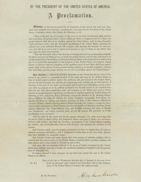 emancipation of proclamation essay Free emancipation proclamation papers, essays, and research papers the  proclamation freed slaves in rebelling states to weaken their army but did not the .