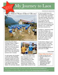 My Journey to Laos Newsletter