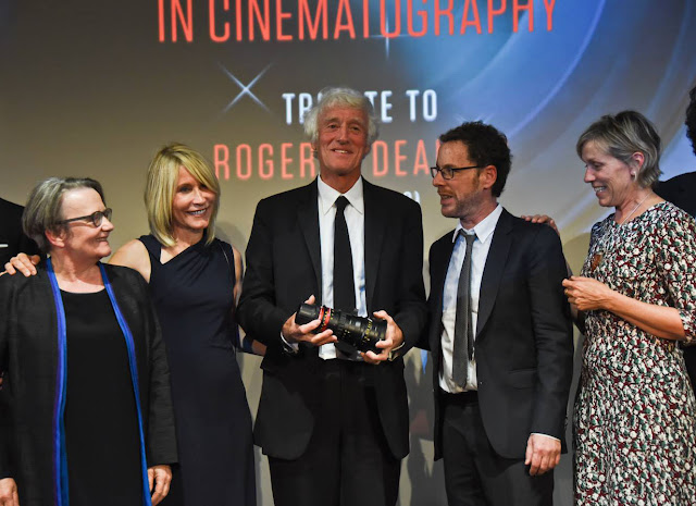 ROGER DEAKINS RECEIVES PIERRE ANGENIEUX EXCELLENS AWARD. Filmcastlive