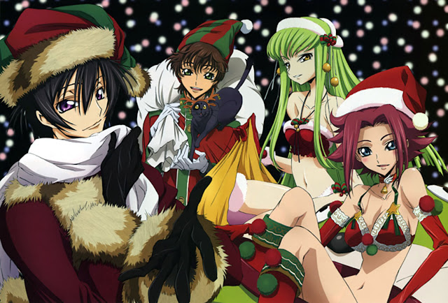 Code Geass | Lelouch Lamperouge  | Kallen | C.C. | Anime | Wallpaper | Christmas | Holiday
