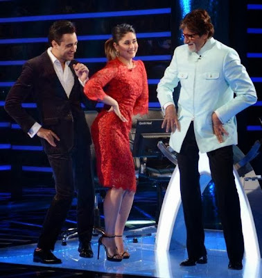 Kareena Kapoor and Imran Khan On the set of KBC