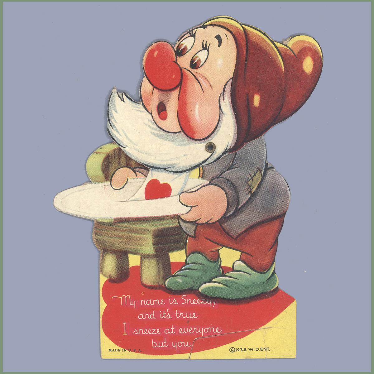 Cartoon Characters Valentines Day : Vintage valentine museum walt disney studios cartoon