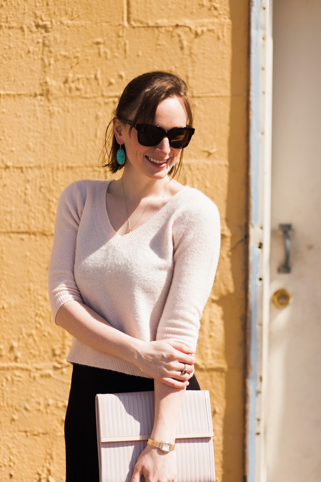 Pastels for Spring, Maria Beaulieu Jewelry, Stella McCartney Sunglasses, Dittos