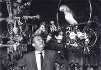 Walt Disney in the Tiki room when it first opened.