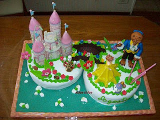 Cakes of Beauty and the Beast Children Party