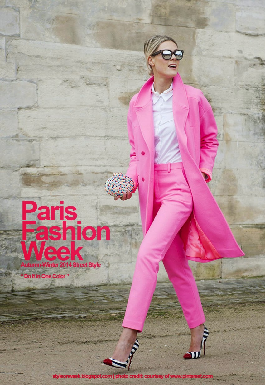 Paris Fashion Week Autumn-Winter 2014 Street Style - Do It in One Color