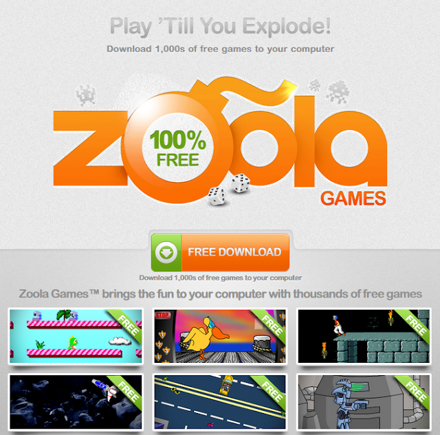 The screenshot of Zoola Games