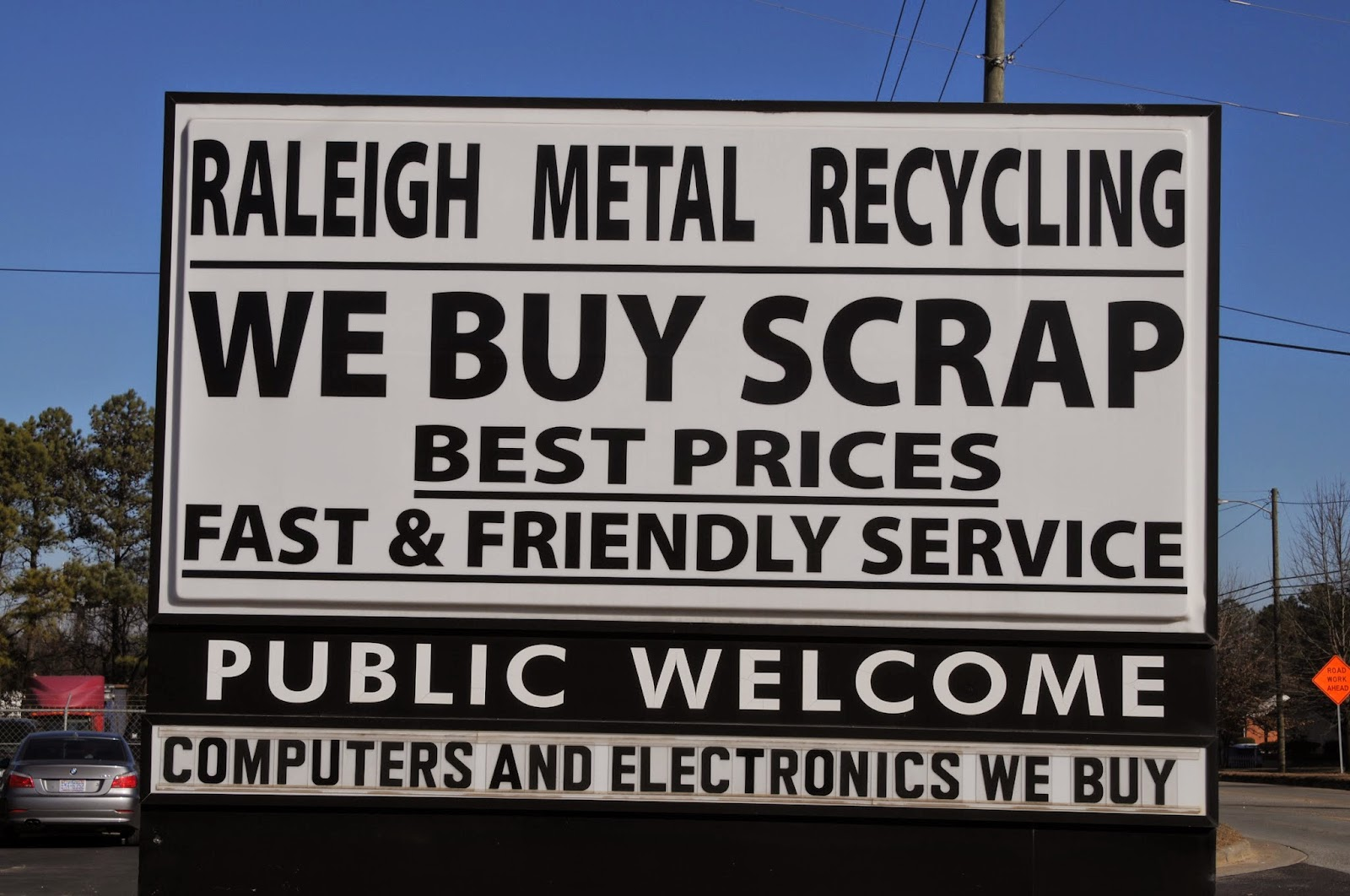 NC Scrap Metal Recycling, 2310 Garner Road, Raleigh, 919-828-5426