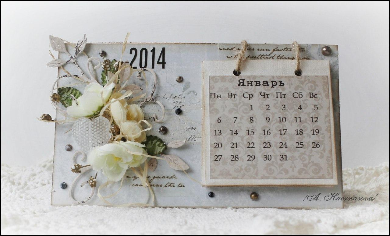 Как сделать настольный календарь своими руками