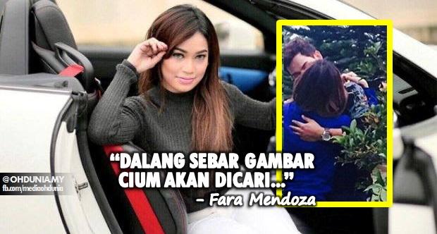 Fara Mendoza akan cari dalang sebar gambar sedang 'Bercium'