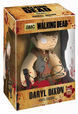 "Walker Stalker Con Exclusive Norman Reedus Autographed The Walking Dead Bloody Daryl Dixon 7"" Mystery Mini Vinyl Figure by Funko"