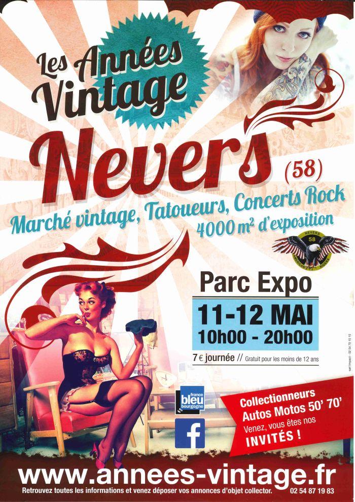 Les années Vintage le 11 et 12 mai de 10h-20h à Nevers