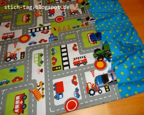 Spielteppich Nähen stich tag autoteppich für unterwegs cars 2 go