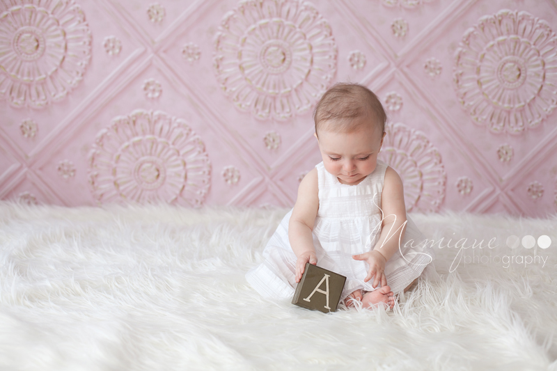 Vancouver Baby Photographer - Baby Girl in white dress
