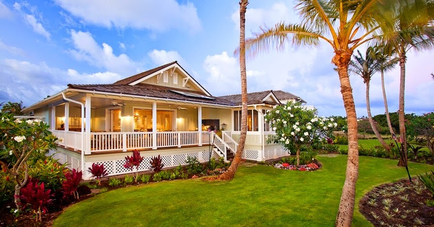 Hawaiian plantation style architecture home designs for Hawaiian plantation home plans
