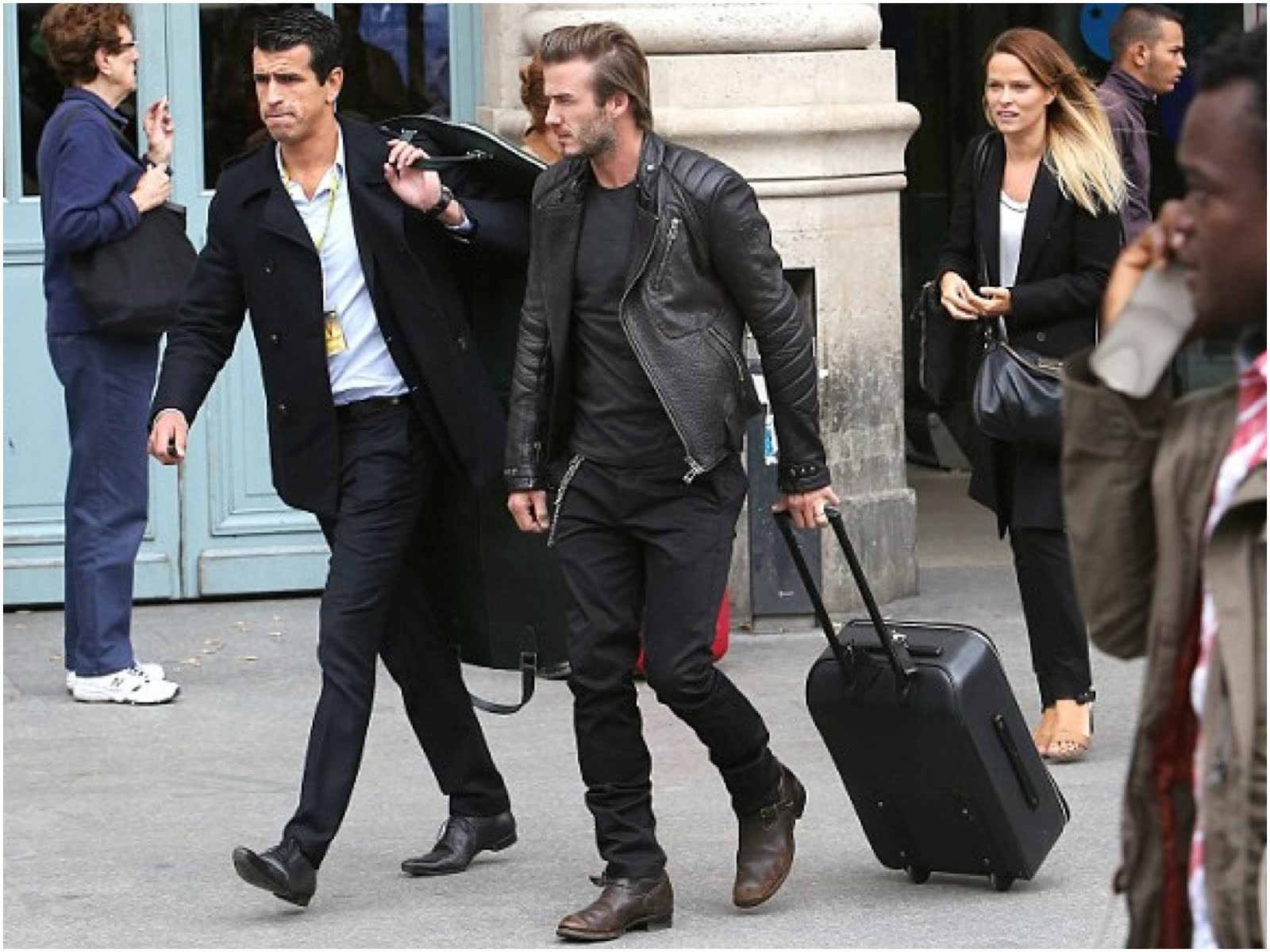 David Beckham in Belstaff - Paris Street Style