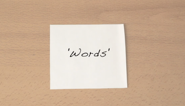 Words. ©Laura Terciado. Cortometraje | Short Film