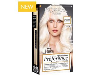 platin blond hårfarve