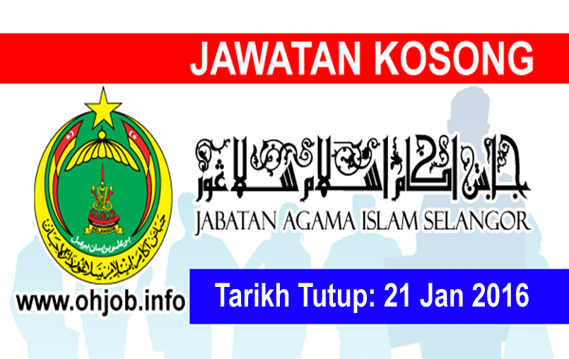 Jawatan Kerja Kosong Jabatan Agama Islam Selangor (JAIS) logo www.ohjob.info januari 2016