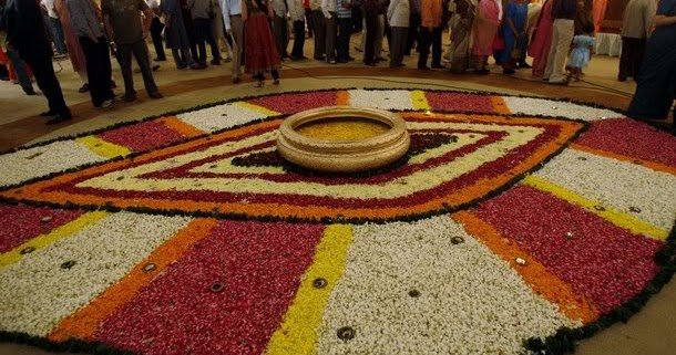 College Welcome Party Diwali Party Flower Decoration
