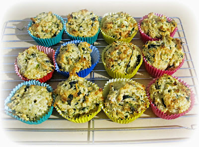 image recipe tutorial spinach and feta muffins