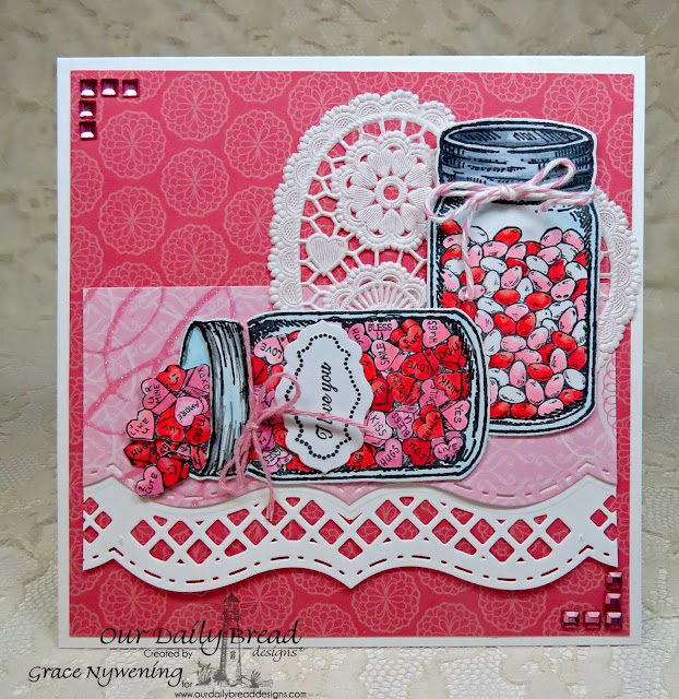 ODBD stamps: Canning Jars, Canning Far Fillers, Antique labels and borders, Ornate Borders Sentiments, designed by Grace Nywening