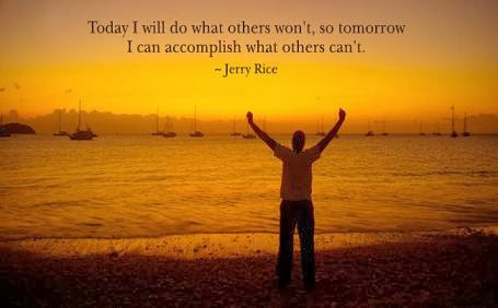 Jerry Rice quote about accomplishment