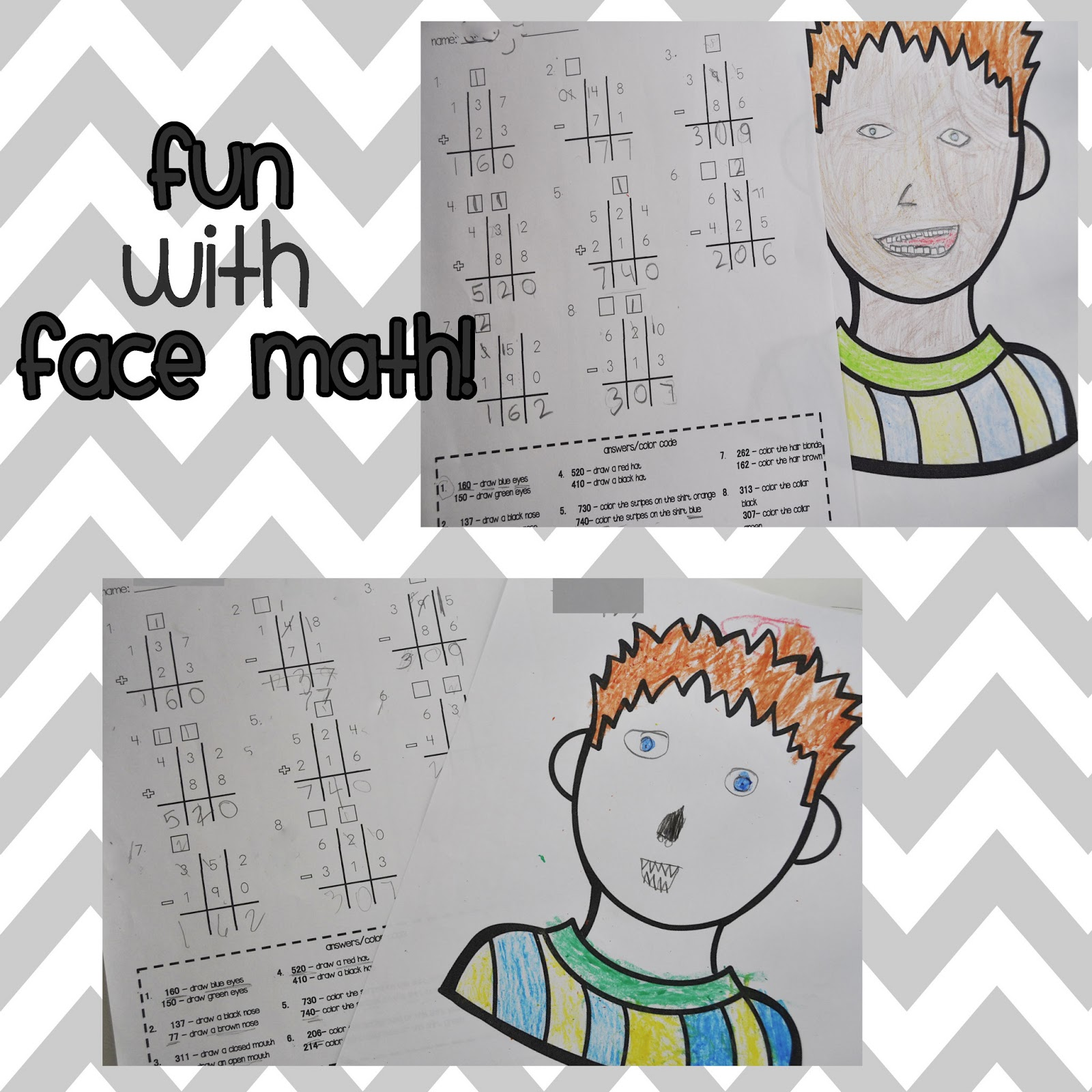 worksheet Face Math Worksheets the real teachers of orange county lets face it math can be fun basically i typed up various 3 digit addition and subtraction problems for students to solve once were finishe