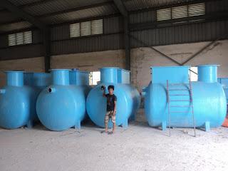 Bồn xử lý nước thải sinh hoạt do Công ty Cổ phần Composite và Công nghệ Ánh Dương sản xuất