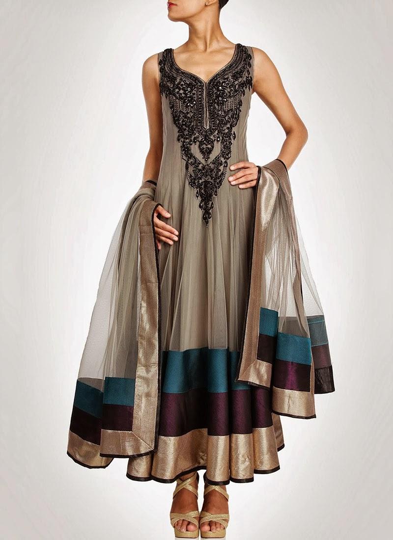 NewDesignsofLongAnarkaliSuitsCollection201428529 - New Designs of Long Anarkali Suits Collection 2014