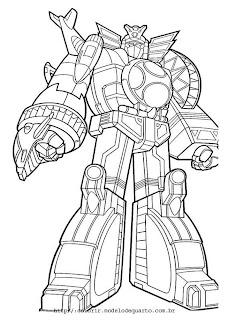 Desenhos do Power Rangers para imprimir e colorir
