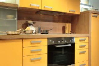 Yellow Kitchen Cabinets Picture