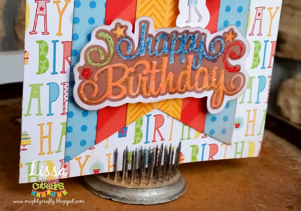 Happy Birthday card for Miss Kate Cuttables by Lissa