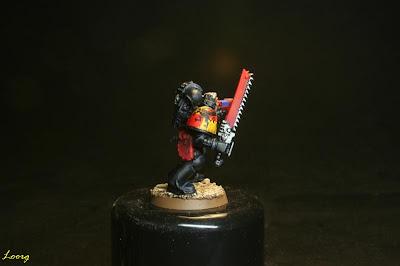 Detalle del sargento Guardianes de la muerte procedente de los Grifos Aullantes
