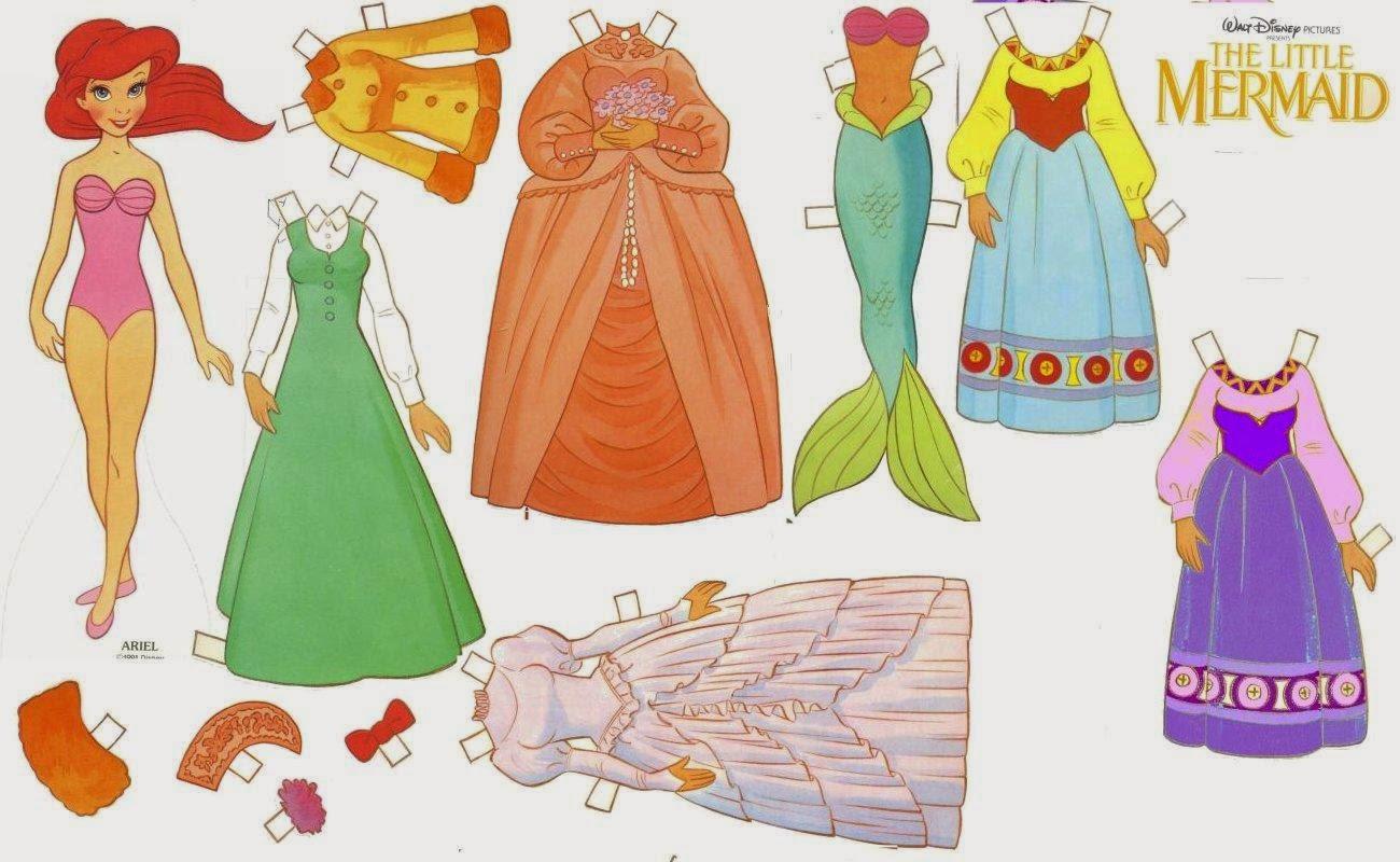 Как сделать из бумаги принцессу своими руками 84