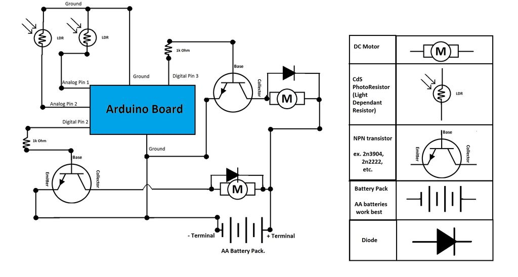 robotech maker  arduino light seeking robot 7