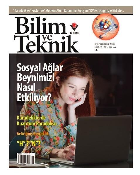 Bilim ve teknik dergisi 555 şubat 2014 sayısı pdf indir